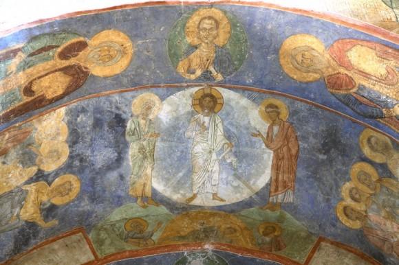 Фреска Спасо-Преображенский собора Мирожского монастыря во Пскове. Ок. 1156 г.