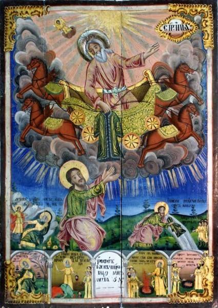 Святой пророк Илия с житийными сценами  Болгария, 1870 г. иконописец Гено Тихолов