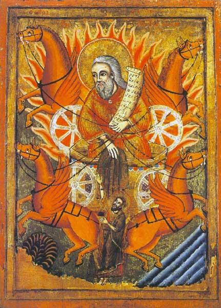 Огненное восхождение пророка Илии  XVIII век Болгария