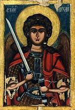 Михаил Архангел, румынская икона