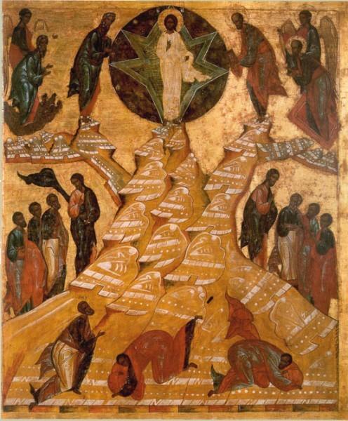 Икона из иконостаса ц. Преображения Кирилло-Белозерского монастыря. 1595 г. Кирилло-Белозерский музей-заповедник