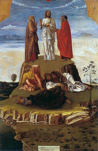 Джованни Беллини. Преображение. Ок. 1455г. Музей Коррер, Венеция