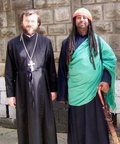 Архимандрит Кирилл (Говорун) и эфиопский монах