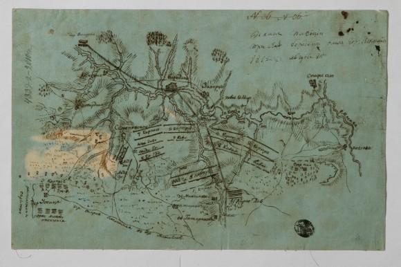 План Бородино. Фото с выставки
