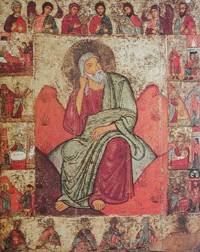 Илия Пророк с житием и деисусом. XII век, Псковщина. (Находится в Третьяковской галерее)