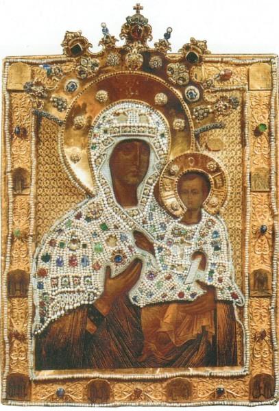 """""""Смоленская"""" икона в окладе, 1456"""
