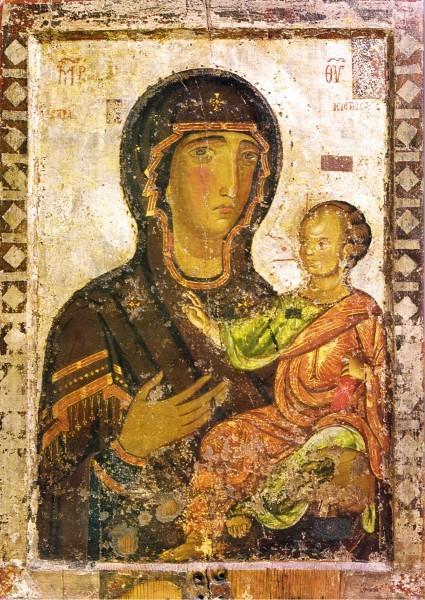 """Икона Богородицы """"Одигитрия"""", Кипр, XII век"""