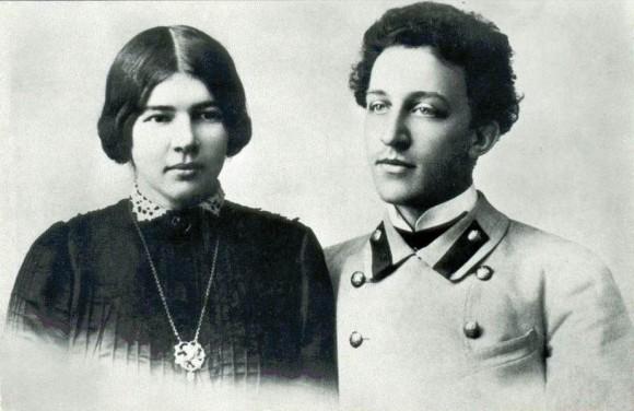 Александр Блок и его жена Любовь Дмитриевна Менделеева. 1903