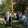 Митрополит Воронежский Сергий освятил купольный крест для возрождаемого храма агроуниверситета