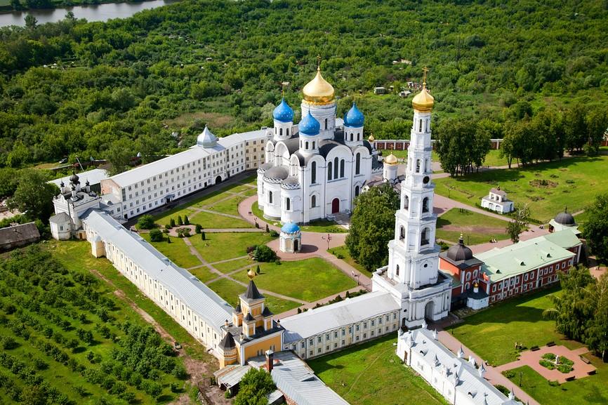 Николо-Угрешский монастырь вид с высоты