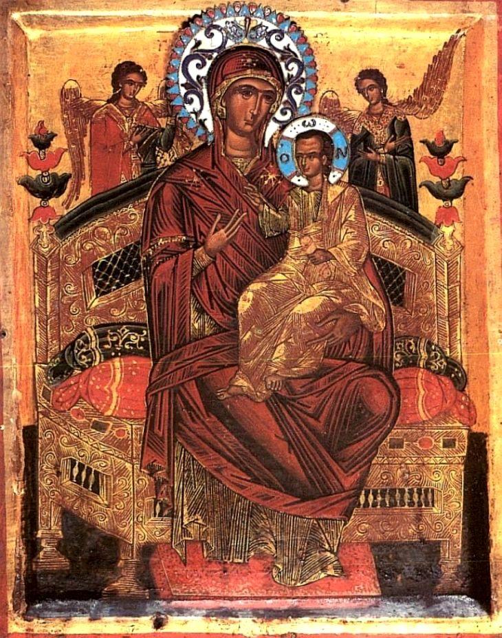 икона божья матерь всецарица: