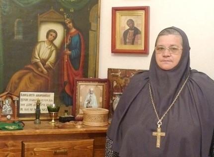 Схиигумения Елисавета (Орлова) в келье митрополита Зиновия (Мажуги)