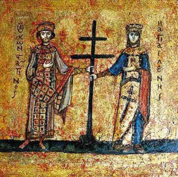 Равноапостольные Константин и Елена. Храм Святой Софии, Константинополь