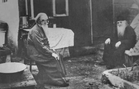 Владыка Зиновий (Мажуга) и схиархимандрит Серафим (Романцов)