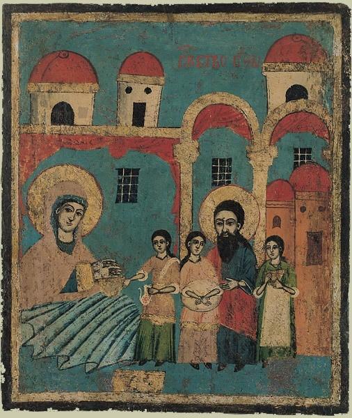 Рождество Богородицы. Болгарская икона