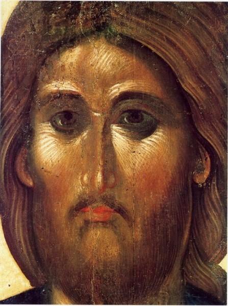 Лик Христа. Византийская икона. 14 век