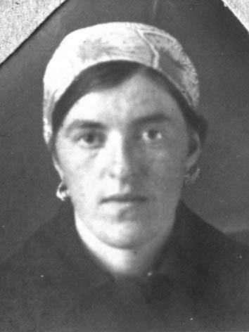 Татьяна Гримблит, лагерная фотография, Зырянский край.