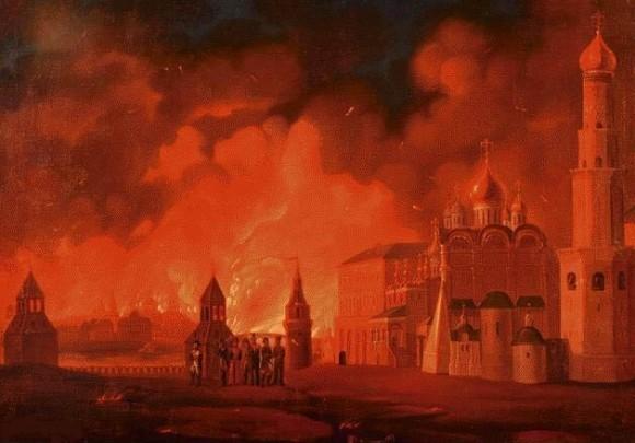 Пожар Москвы А. Ф. Смирнов. 1810-е гг.