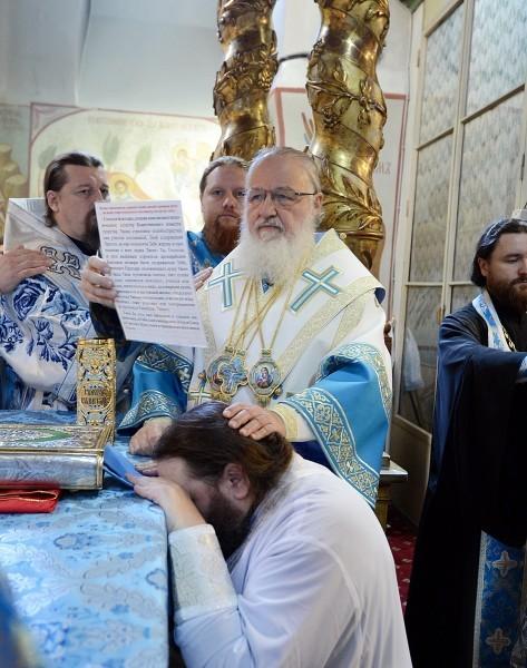 Хиротония архимандрита Вениамина (Королева) во епископа Железногорского и Льговского.