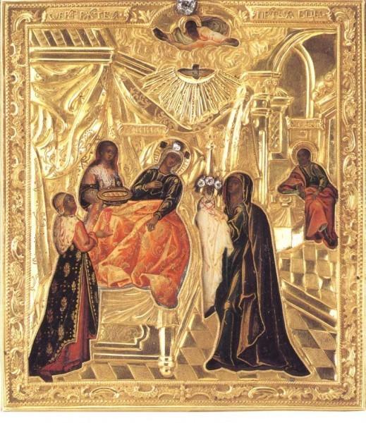 Подобие иконы Рождества Богородицы (Глинской), находящееся в Санкт-Петербурге