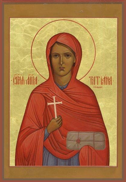 Святая новомученица Татиана (Гримблит), икона Покровского храма Бутырской тюрьмы.