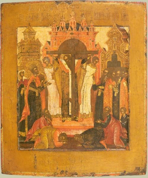Воздвижение Креста. Середина XVIII в. Палехские письма.