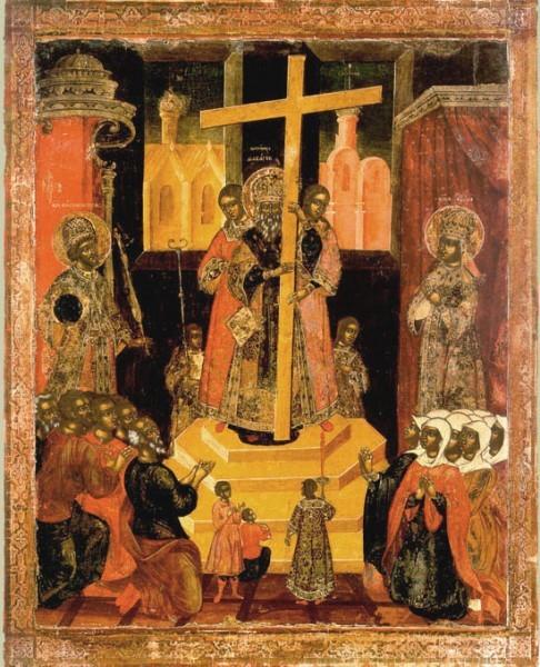 икона воздвижение креста господня фото +и значение
