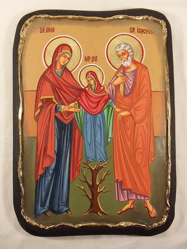 Святые Иоаким и Анна с младенцем Марией