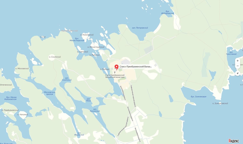 Валаам. Карта