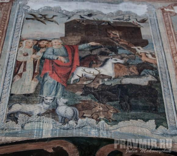 Ноев ковчег. Фреска собора