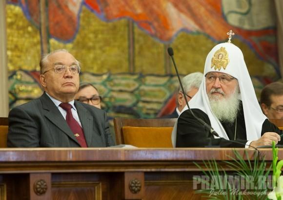 Академик В.А. Садовничий и Святейший Патриарх Кирилл