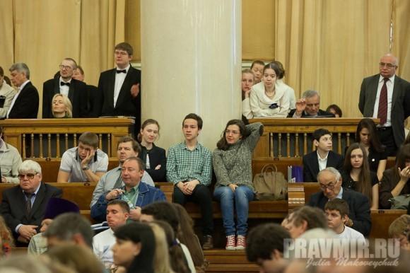 Студенты слушали с интересом