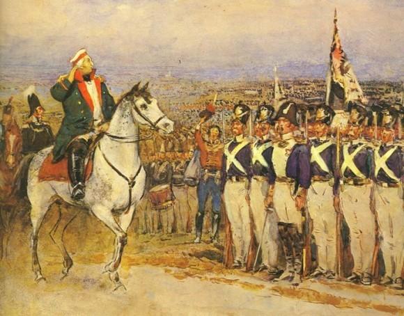 Кутузов принимает армию