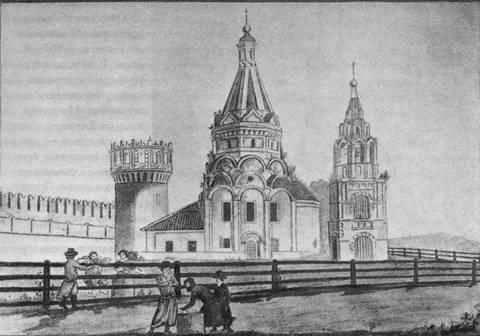 Храм Усекновения главы Иоанна Предтечи в Новодевичьем монастыре Москвы