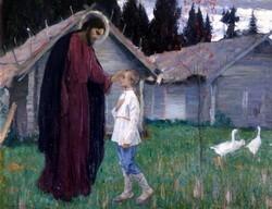 «Христос, благословляющий отрока Варфоломея», Михаил Нестеров