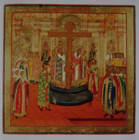 Воздвижение Креста Господня. Невьянская икона. 1830-1840гг.