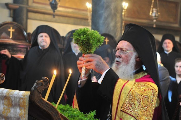 Воздвижение креста в Константинополе. 2012 год. Патриарх Варфоломей.