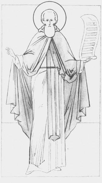 Прорись иконы преподобного Сергия
