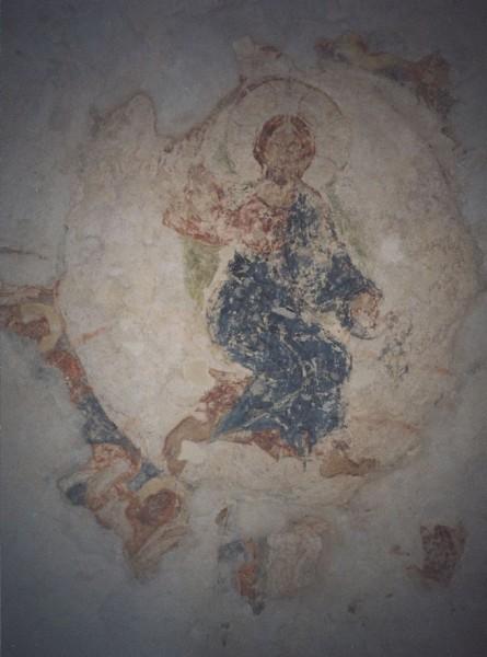 Вознесение. Сохранившийся фрагмент фрески купола собора.