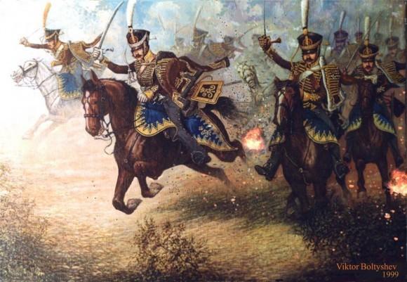Болтышев Виктор Николаевич. Давыдов в бою у Салтановки. 1812 г.