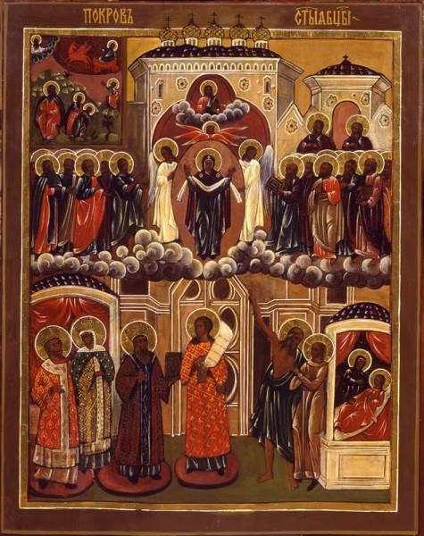 Покров Пресвятой Богородицы. XIX в. Храмовая Бутырская