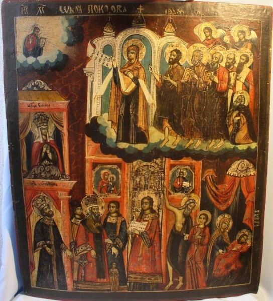 Покров Пресвятой Богородицы. Северная Русь, XVIII в.