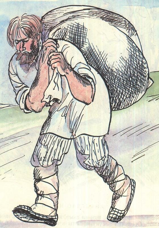 Картинки по запросу рисунок Вор с мешком