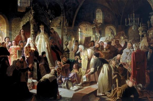 Перов, Василий Григорьевич. Никита Пустосвят. Спор о вере. 1880—1881