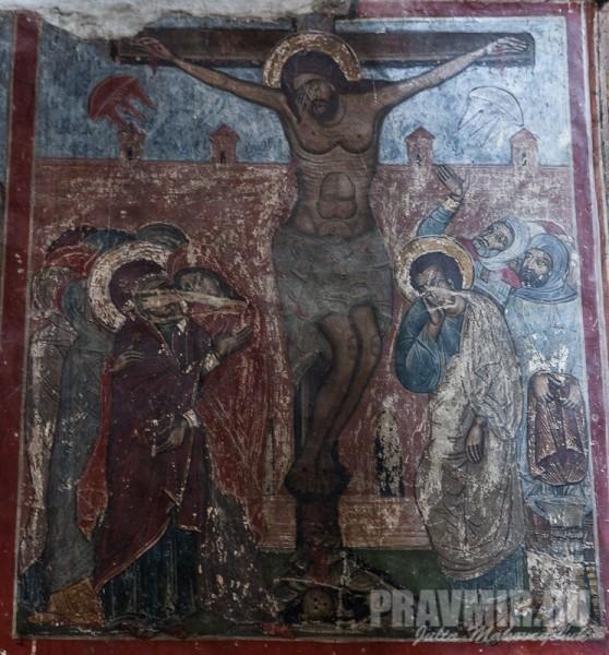 Башня над Хитоном Господним: Распятие Христово (фрагмент росписи)