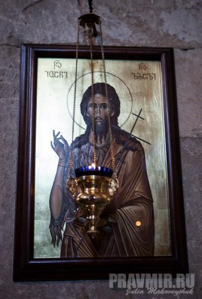 Современная икона св. Иоанна Предтечи