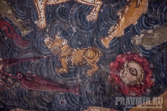 Фрагменты фрески «Страшный Суд»