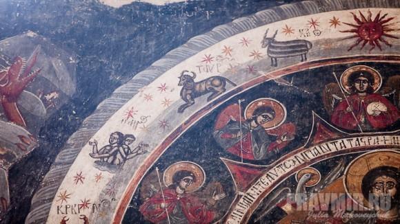 Фрагменты фрески «Страшный Суд»: знаки Зодиака