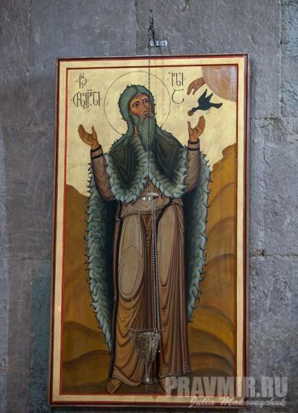 Пророк Илия. За иконостасом в этом месте хранится его милоть