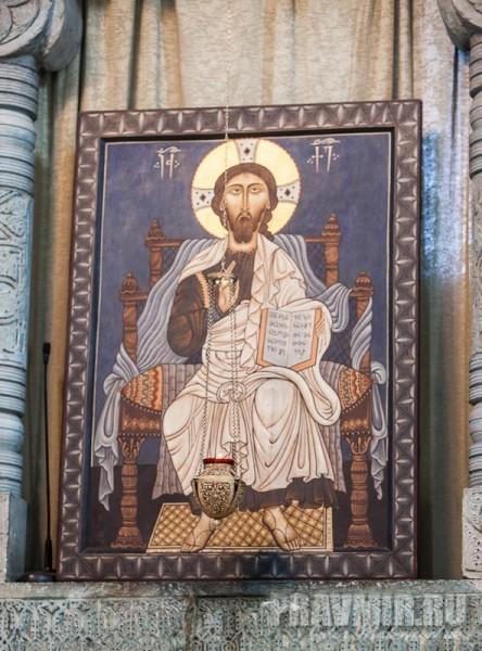 Спаситель. Икона из центрального иконостаса